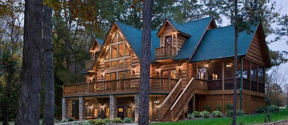 Custom Log Cabin Home Builder In North Carolina