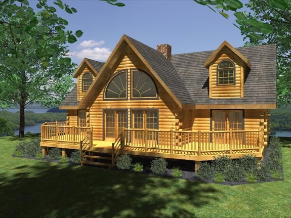 Log plans architectural designs 4 bedroom log home plans for Unique log cabin designs